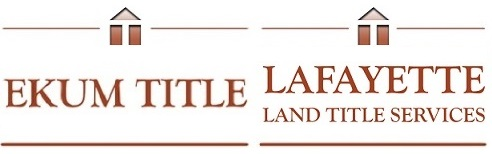 Ekum Title, LLC and Lafayette Land Title Services, LLC logos